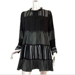 Zara Woman Black and White Contrasting  Dress